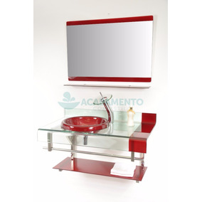 Kit Gabinete / Pia / Bancada Banheiro Tipo Astra Chopin 90cm