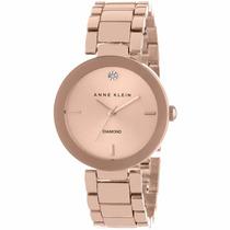 Reloj Anne Klein Ak1362rg Dama Oro Rosa Diamond Envío Gratis
