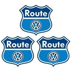 Trio De Emblemas Route Volkswagen Fox / Space Fox Linha Vw
