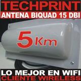Antena Doble Biquad 15 Dbi 5km Alcance Cliente Internet Wifi