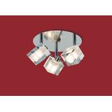 Plafon De Techo 3 Luces Ronda Delta 4934-3 Apto Para Led