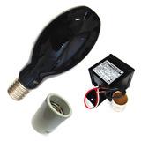 Lâmpada Luz Negra 250w Beringela 220v + Reator + Soquete E40