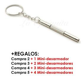 Mini Desarmador 4-en-1: Tuerq, +/- Lentes, Reloj, Celular