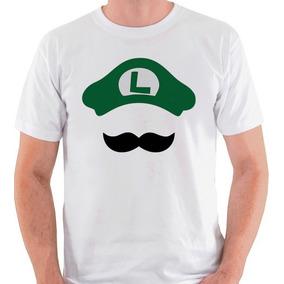 Camiseta Luigi Camisa Blusa Bigode Nintendo Mario Bros