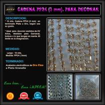 10 Mts Cadena Pp24 - 3 Mm Decorar Vestidos Bolsos Zapatillas