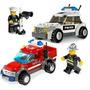Lego City Muñeco + Carro Policia Bombero Lancha Juguete Niño