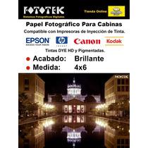 Papel Fotográfico Profesional 4x6 Brillante 100 Fotos
