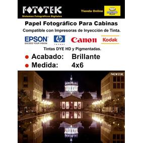 Papel Fotográfico Profesional 4x6 Brillante Rc 100 Fotos
