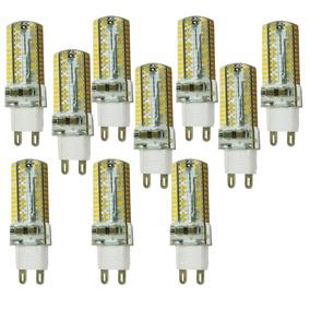 Kit 10 Lâmpada Super Led Halopim G9/104 Leds/9w 110 Ou 220v