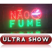 Placa Led Quadro Letreiro Luminoso Decorativo Não Fume Rgb