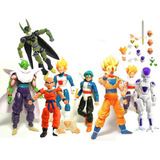 Kit C/ 8 Bonecos Dragon Ball Z Articulados - Goku Gohan Etc