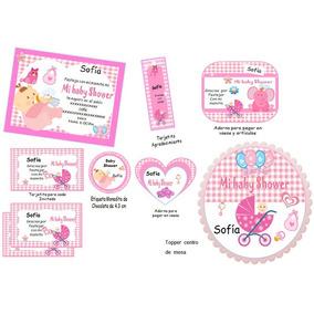 Kit Imprimible Baby Shower Juegos Invitaciones Nuevo