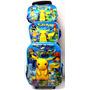 Mochila Pokemon Go 3d Pikachu C/ Rodinhas Lancheira E Estojo