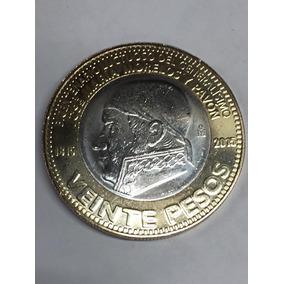 Moneda 20 Pesos 1915 Aniversario Luctuoso José Maria Morelos