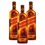 Kit: 3 Whisky Importado Johnnie Walker Red Label 500ml