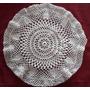 Carpeta Crochet. Hilo Macramé. Redonda De 32 Cm.