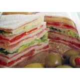 Sandwiches De Miga Pan Blanco/negro Elaboración Artesanal