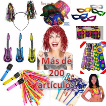 Productos Fiesta, Antifaz,collar Mardi Y Hawaino.