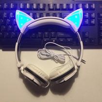 Audifonos Diadema Orejas De Gato Con Luz Led