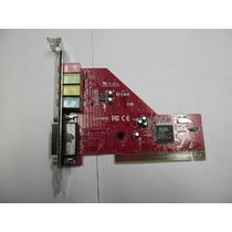 Placa De Som Pci 3d Sound Card Suport Win 95, 98, 2000, Me