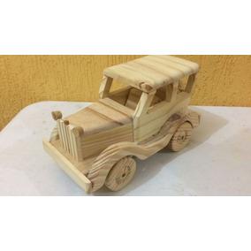 Calhambeque De Madeira Artesanal Decorativo Ou Brinquedo