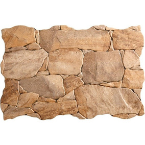 revestimiento ceramico simil piedra pared interior y ext