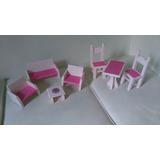 Muebles Para Muñecas De Pino Pintado--y Decaupage