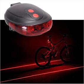 Mayoreo 10 Luz Trasera Roja Bicicleta 5 Leds Carril Laser