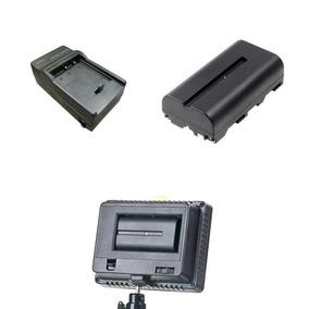 Kit Bateria E Carregador Para Iluminadores Led 160 Filmes
