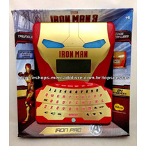 Tablet Smart Pad Trilíngue Iron Man 84 Atividades Original