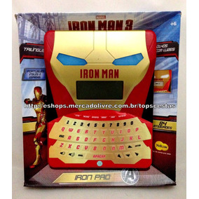 Tablet Smart Pad Trilíngue Iron Man 84 Atividades Original