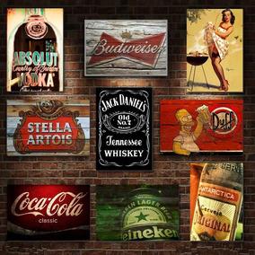 Placas Decorativas Mdf , Retrô Vintage Cervejas Bebidas Bar