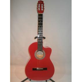 Guitarra Acustica De Paracho Roja Tipo Requinto