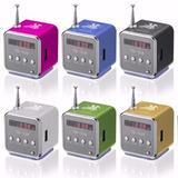 30 Mini Caixa De Som Display Toca Som Mp3 Rádio Fm Pendrive