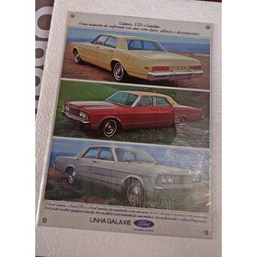Placa Decorativa Chapa Metal Ford Galaxie Landau Ltd Carros