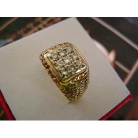 Antiguo Anillo En Oro 14k C/brillantes (diamantes).