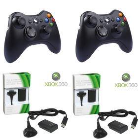 Kit 2 Controle Xbox Sem Fio 2 Carregador 2 Bateria Slim Xbk