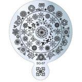 Placa Uñas Decoracion Acero 9x11cm