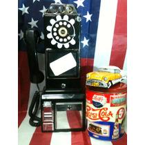 Telefono Antiguo Vintage De Pared Adornos (funcionando)