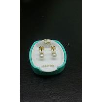 Aros Abridores Ch Perla Cultivada N1 De Oro 18 Kilates