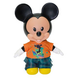 Boneco Mickey Mouse Baby Disney C/ Roupa Skatista 25cm