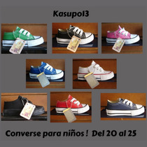 Kp3 Zapatos Converse All Star De Colores Para Niños 20-25 !