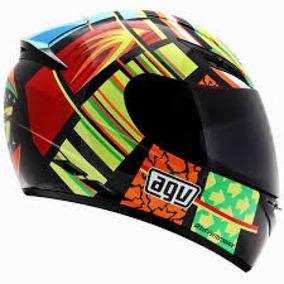 Casco Agv K-3 Sv Elements Rossi Moto Gp Incluye Visera Smoke