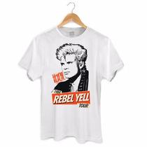 Camiseta Masculina Billy Idol 1984 Rebel Yell Tour - Bandup!