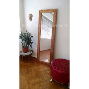 Espejo De Pie Diseño Decoración Madera Maciza (em103m)