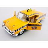 Clássico 57 Chevrolet Bel Air Taxi Abre Porta Pneu Borracha