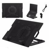 Base Refrescante Para Laptop Fan Cooler Ajustable Profeciona