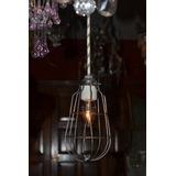 Lámpara P/colgar Iluminación Industrial Armazón De Alambre