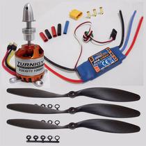 Motor Turnigy D2830-11 + Esc Hk 30a + 3 Hélices + Brinde