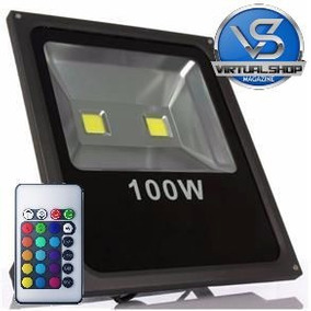 Refletor Holofote Led Rgb 100w Ip65 Bivolt 16 Cores